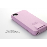 SGP Leather Case Valencia Swarovski Series for iPhone 4, 4S [Pink] (SGP06883S)